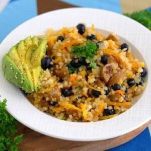 Cauliflower Fried Rice, whole30 cauliflower rice, • whole30 recipes, veggie meals, the whole30 recipes, best whole30 recipes, whole30 diet recipes, whole30 meals, whole30 lunch ideas, whole30 recipes lunch
