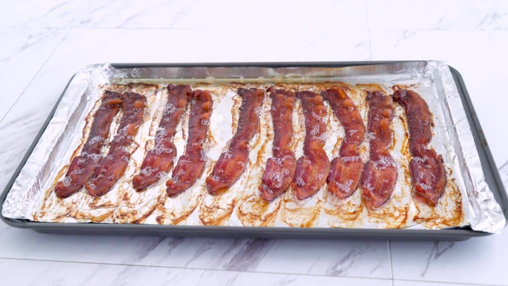 Bacon in the oven, oven baked bacon, bacon in oven temp, freezing cooked bacon, keto breakfast recipes, keto breakfast meal prep