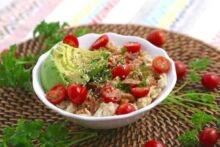 BLAT Savory Oatmeal, bacon avocado tomato oatmeal, avocado oatmeal, bacon oatmeal, savory oatmeal breakfast, BLT oatmeal, simple savory oatmeal, savory oats easy healthy breakfast ideas