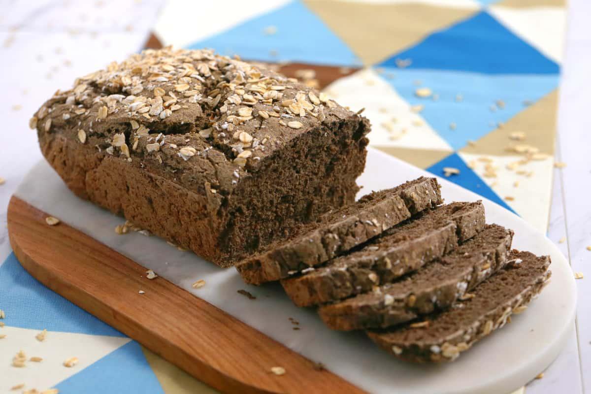 Vegan Gluten Free Bread Recipe without Yeast | Mind Over Munch