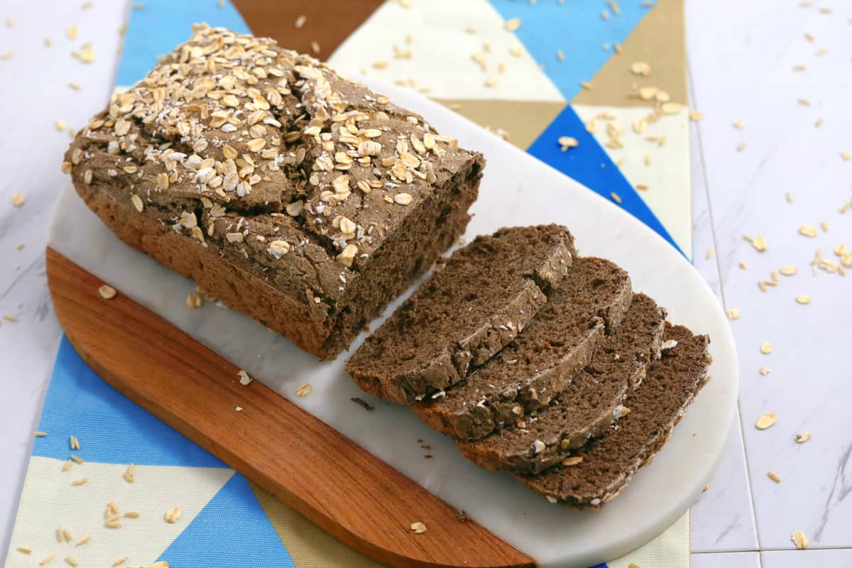 gluten free vegan bread recipe, how to make vegan bread, vegan gluten free bread recipe, gluten free bread recipe without yeast, gf vegan bread recipe, buckwheat flour bread, vegan gluten free sandwich bread