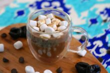 drinks for digestive health, prune juice hot chocolate, healthy hot chocolate recipe, how much prune juice for constipation, high fiber drinks, digestive drinks non alcoholic