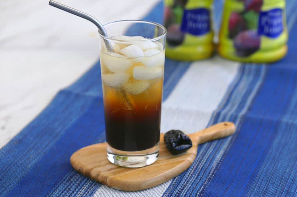 drinks for digestion, fizzy prune soda, prune juice soda, fruit soda recipe, healthy homemade soda, recipes with prune juice in them, prune juice for constipation, natural constipation relief