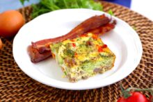 Keto breakfast casserole, sausage breakfast casserole, breakfast bake, low carb breakfast casserole, low carb breakfast ideas, keto breakfast ideas, low carb breakfast recipes, keto meal prep, keto diet recipes, keto breakfast meal prep