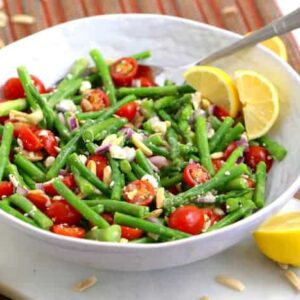 Cold Asparagus Salad, asparagus salad with feta, asparagus and tomato salad, cold salad recipes, easy meals to make, lunch meal prep for the week, vegetarian lunch ideas