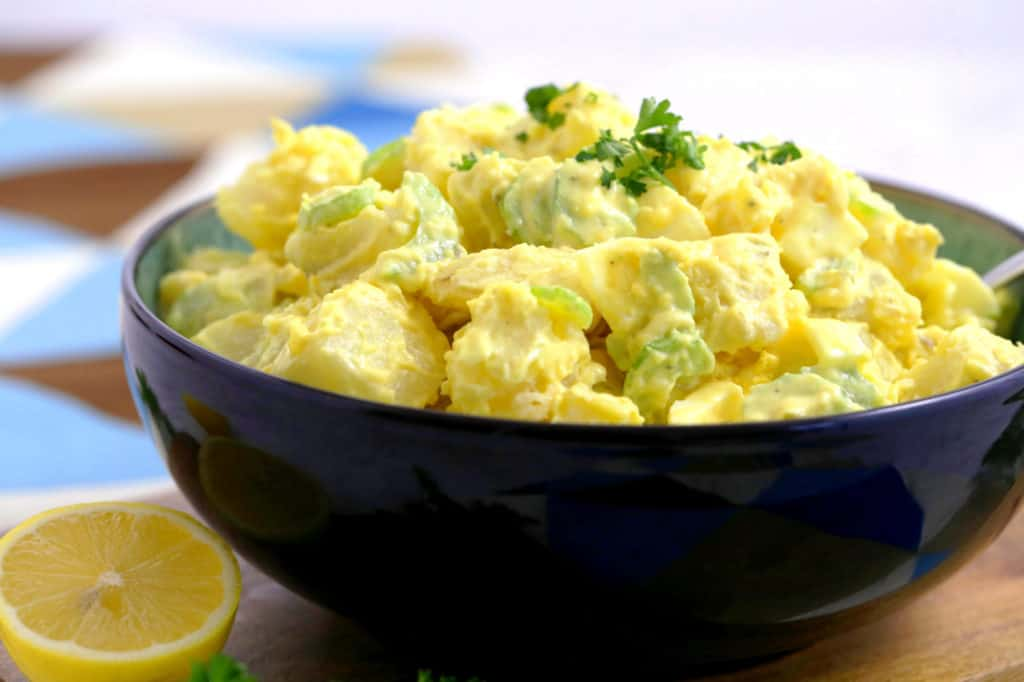 Healthy Potato Salad Recipe with Mayo, how long does potato salad last, avocado oil mayonnaise recipe, lunch meal prep for the week, cold lunch ideas, cheap healthy meals, vegetarian meal prep recipes
