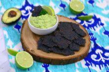 homemade black bean chips, bean chips, black bean tortilla chips, black bean chips recipe, bean chips recipe, how to make bean chips, black bean flour recipes, black bean crackers, vegan crackers, gluten free vegan cracker recipe, healthy avocado dip, how to make avocado dip