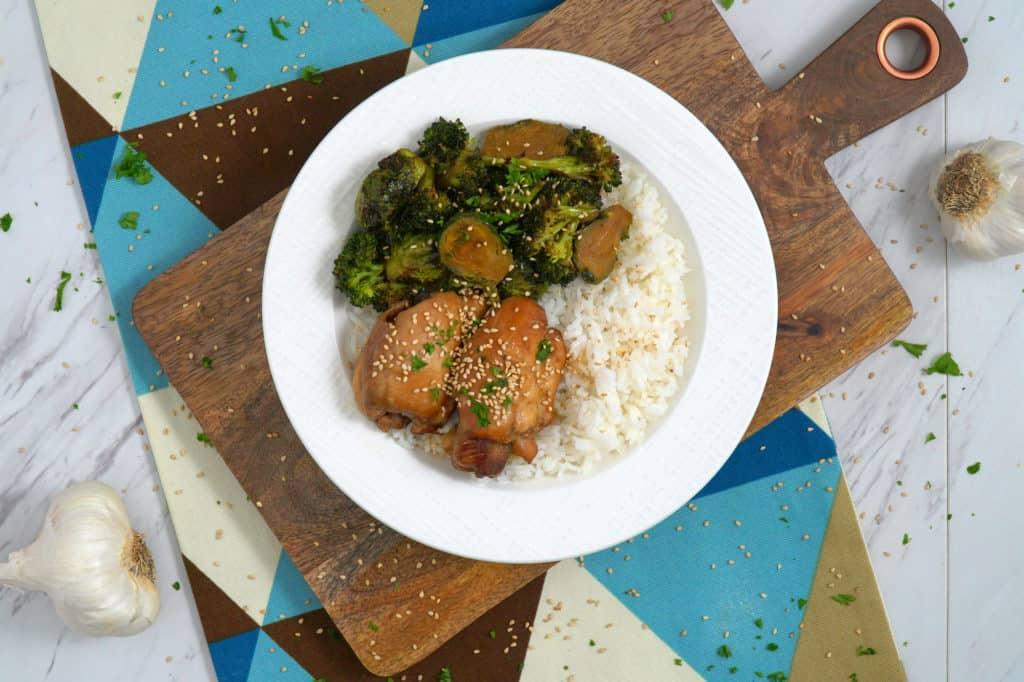 Instant Pot Teriyaki Chicken, instant pot chicken and rice, instant pot chicken thigh recipes, instant pot meals, easy healthy dinner recipes, cheap dinners, inexpensive healthy meals, chicken teriyaki instant pot