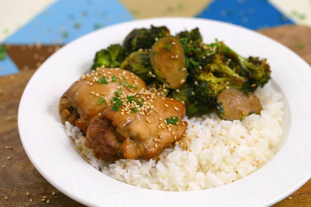 Instant Pot Teriyaki Chicken and Rice, instapot recipes, chicken and rice instant pot, easy instant pot dinner, healthy instant pot recipes, healthy meal prep ideas, quick heathy meals, pressure cooker dinners