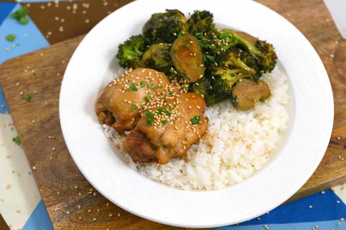 Instant Pot Teriyaki Chicken and Rice, teriyaki chicken instant pot, easy instant pot recipes, pressure cooker chicken and rice, easy instant pot dinner, dinner ideas for two, cheap meal prep, instant pot recipes chicken and rice
