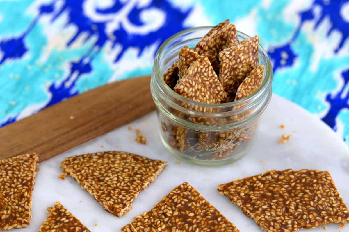 Sesame Seed Snaps - Carrots and Spice |Sesame Seed Candy With Cranberries