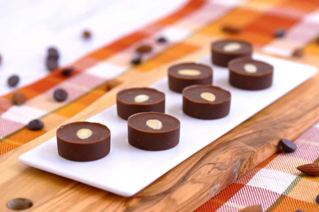 Salted Almond Chocolate Fat Bombs, best keto fat bomb recipes, easy fat bombs, chocolate fat bombs keto, almond joy fat bombs, ketogenic fat bombs, low carb chocolate fat bombs, fat bombs with coconut oil, sweet & savory fat bombs