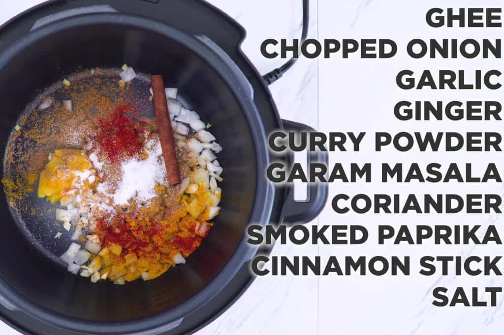 Indian butter chicken instant pot, how to make butter chicken, instant pot Indian recipes, how to saute in instant pot, easy instant pot butter chicken