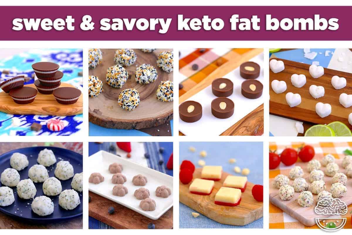 Keto Fat Bomb Recipes, fat bombs, sweet & savory fat bombs, low carb fat bombs, cream cheese fat bombs, chocolate fat bombs, fat bomb recipes keto, what are fat bombs, easy fat bombs, paleo fat bombs