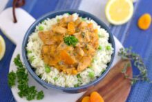 Instant Pot Apricot Chicken Recipe, apricot chicken thighs, healthy apricot chicken recipe, best apricot chicken, chicken with dried apricots, instant pot recipes, pressure cooker chicken recipes, instant pot chicken thighs, healthy instant pot recipes, instant pot chicken and rice