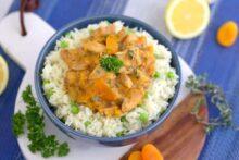 Apricot Chicken Recipe, how to cook apricot chicken, healthy apricot chicken, apricot chicken and rice recipe, pressure cooker recipes, instapot recipes, instant pot chicken, best instant pot recipes, pressure cooker chicken thighs, easy instant pot recipes