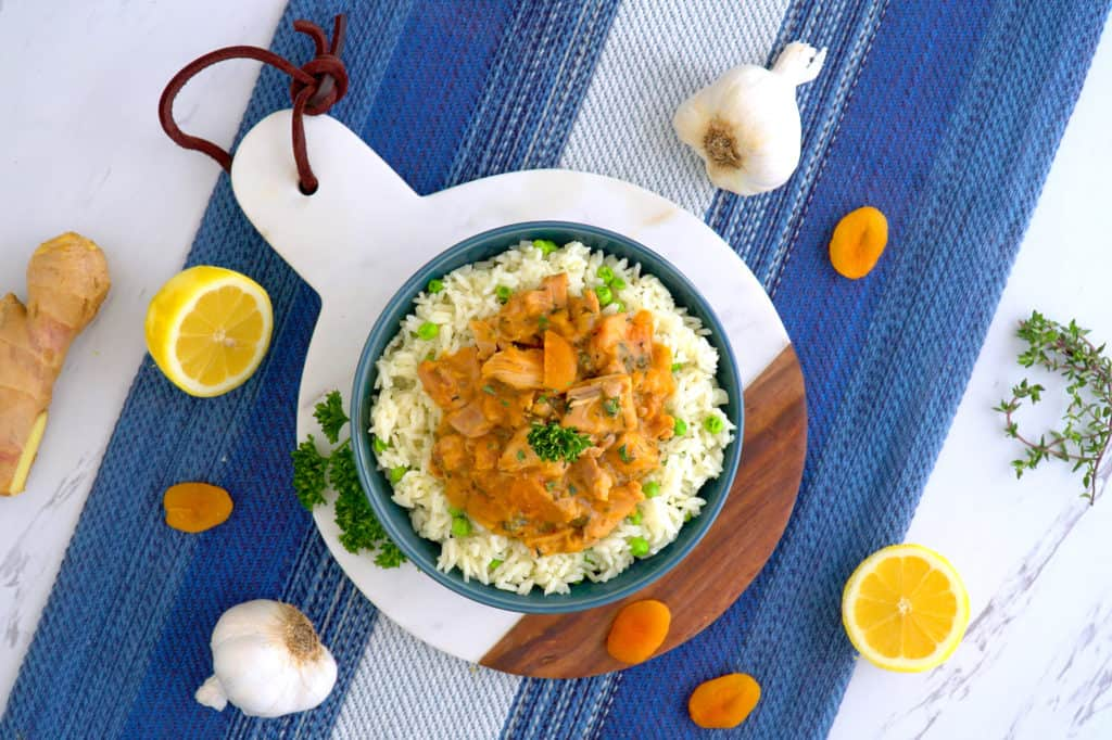 Apricot Chicken Recipe, instant pot apricot chicken, apricot chicken thighs, instant pot chicken, instant pot dinners, instant pot recipes chicken and rice, cooking rice in instant pot