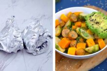 Foil packet dinners oven, foil packet dinner recipes, foil dinners, chicken and vegetable foil packets oven, sheet pan dinners, meal prep dinner ideas, easy foil dinners, one pan meals, healthy meal prep, camping meal ideas, single use foil packet