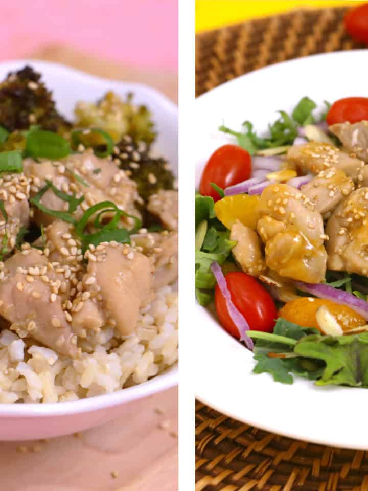 Healthy sesame chicken recipe, honey sesame chicken, lunch meal prep, healthy sesame chicken meal prep, lunch ideas for work, how to make sesame chicken, chicken meal prep ideas, healthy meal prep recipes