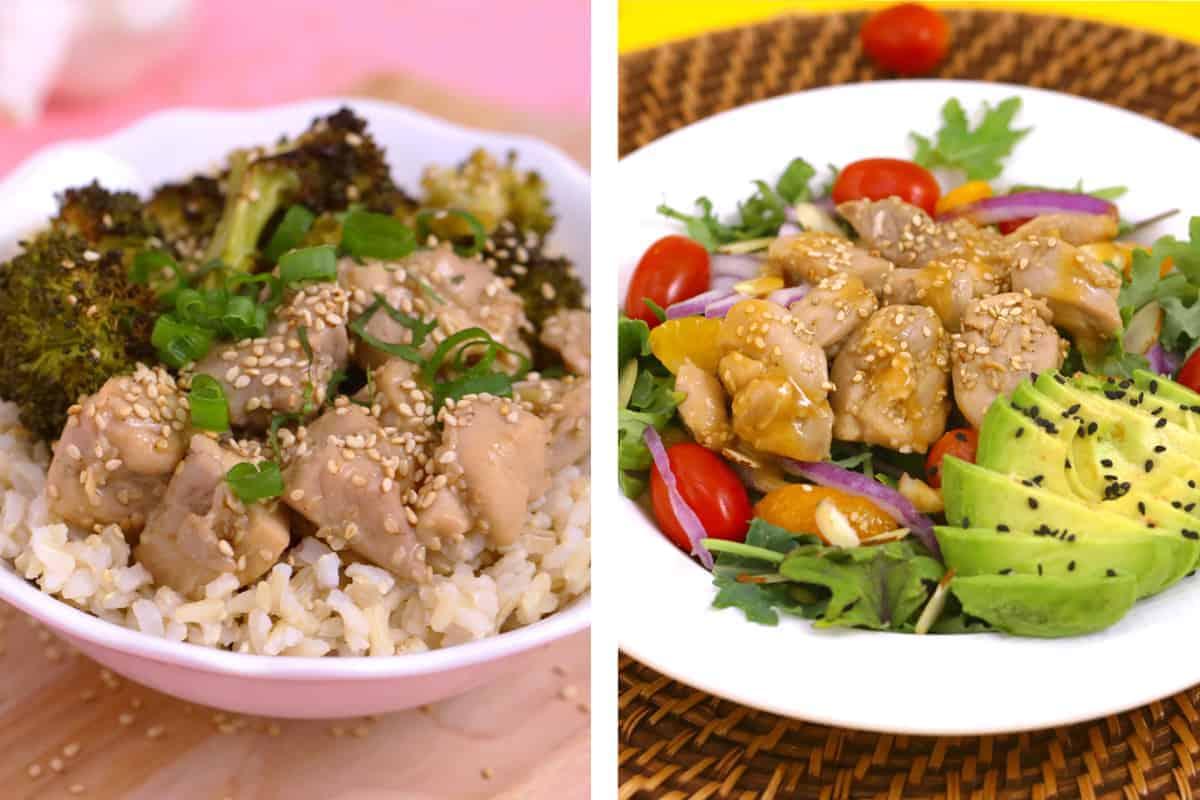 Healthy sesame chicken recipe, honey sesame chicken, lunch meal prep, healthy sesame chicken meal prep, lunch ideas for work, how to make sesame chicken, chicken meal prep ideas, healthy meal prep recipes