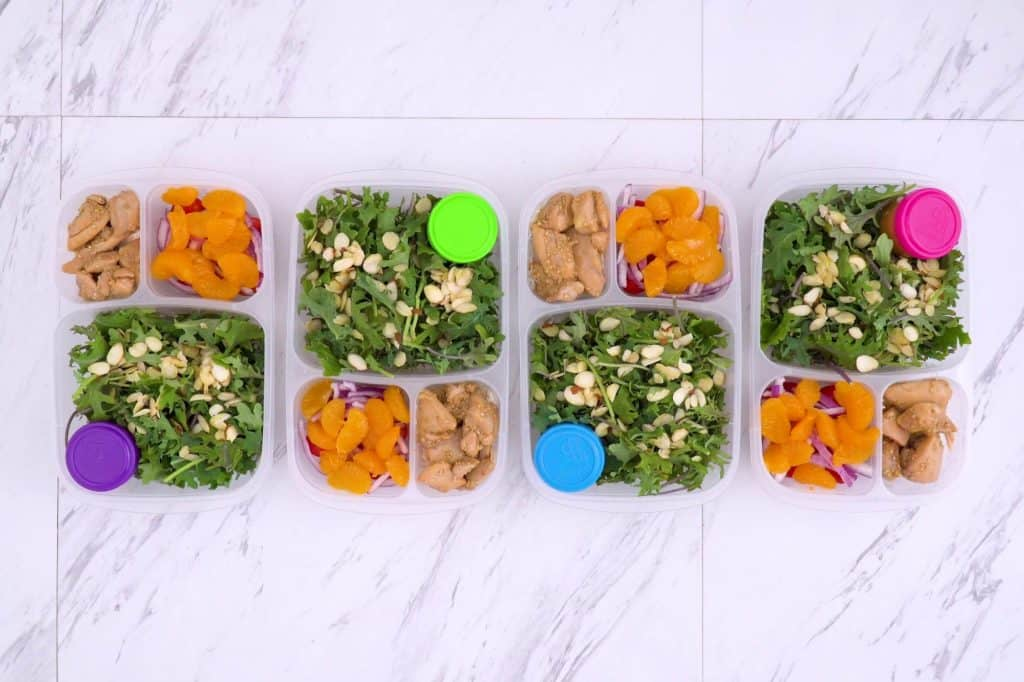 Healthy sesame chicken salad recipe, healthy meal prep ideas for lunch, meal prep sesame chicken, Asian sesame chicken salad, weekly meal prep ideas, easy healthy recipes