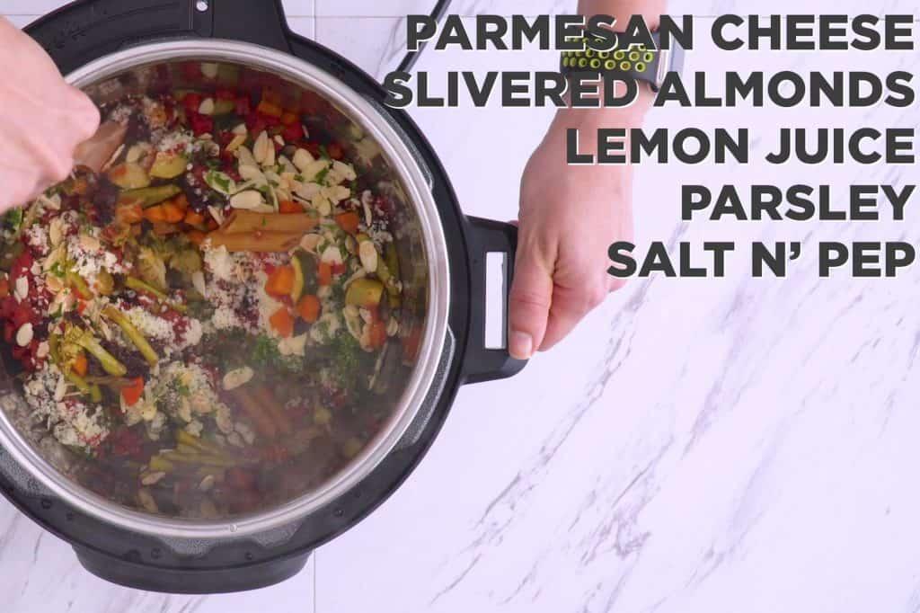 Instant Pot Pasta Primavera, primavera pasta, instant pot pasta, healthy pasta primavera, instant pot recipes, best instant pot recipes, vegan instant pot, instant pot meals, how to cook pasta in the instant pot