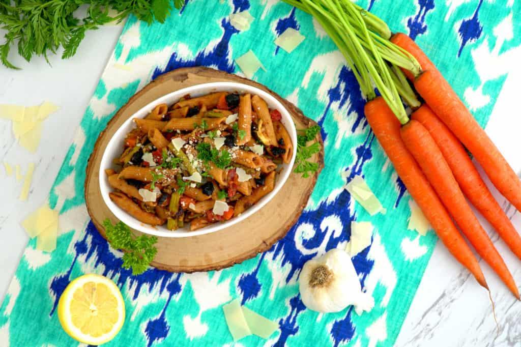 Instant Pot Pasta Primavera, pasta primavera recipe, pasta in instant pot, vegan pasta primavera, cooking pasta in instant pot, instapot recipes, vegetarian pressure cooker recipes, how to cook pasta in a pressure cooker