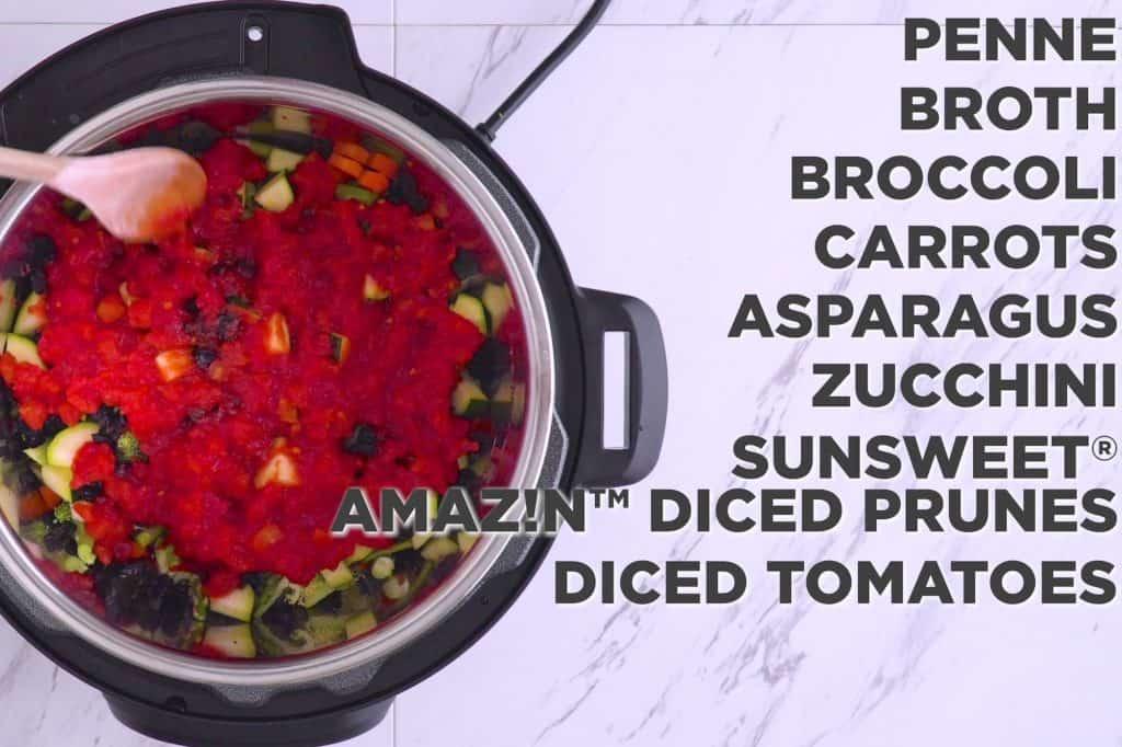 Instant Pot Pasta Primavera Recipe, pasta primavera vegan, instant pot pasta recipes, cooking pasta in the instant pot, instapot recipes, instant pot dinners, instant pot penne pasta recipes