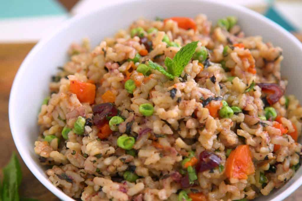 Instant Pot Risotto Recipe, healthy risotto, vegetable risotto, pressure cooker risotto recipes, instant pot recipes, pressure cooker meals, vegan pressure cooker recipes, instant pot pea risotto, instant pot arborio rice