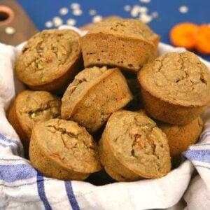 Zucchini carrot muffins, healthy zucchini muffins, gluten free zucchini muffins, breakfast muffins, flourless muffins, healthy muffins, breakfast muffin recipe, healthy carrot muffins, zucchini applesauce muffins, healthy breakfast meal prep