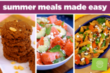 Healthy summer meals made easy, The Domestic Geek Meals Made Easy Cookbook, summer recipes, healthy vegetarian meals, easy meals, healthy meal prep recipes, quick meals, easy summer meals