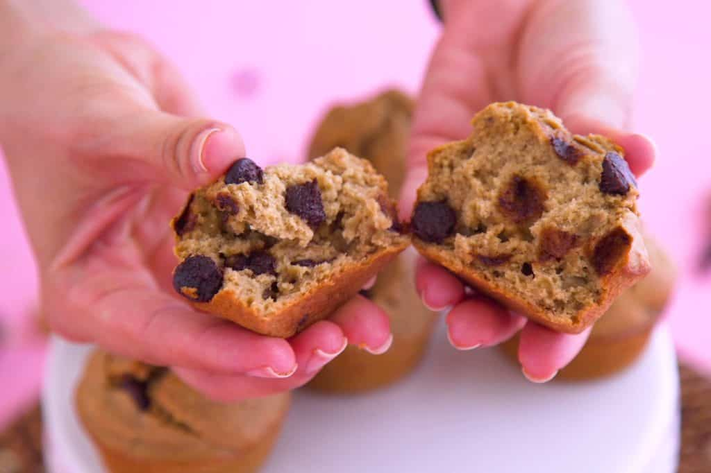 Flourless oatmeal blender muffins, healthy breakfast blender muffins, healthy oatmeal muffins for breakfast, flourless breakfast muffins, easy healthy blender muffins, oatmeal muffins recipe with old fashioned oats, gluten free dairy free muffins, fun breakfast ideas