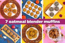 Healthy oatmeal blender muffins, flourless blender muffins, how to make healthy muffins without flour, gluten free breakfast muffins, oatmeal muffins no flour, blender breakfast muffins, healthy no flour muffins, meal prep breakfast ideas, easy breakfast, easy muffins