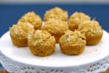 Paleo Cashew Butter Muffins, flourless nut butter muffins, 3 ingredient muffins, healthy paleo muffins, grain free mini muffins, flourless sugar free muffins, healthy paleo snacks, travel snacks, healthy snacks, gluten free sugar free muffins