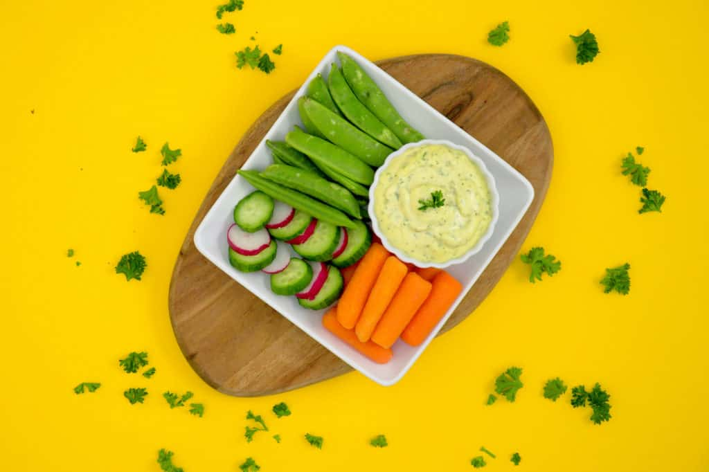 Whole30 Ranch Veggie Dip, whole 30 ranch, paleo ranch dip, how to make ranch dip, Whole30 ranch mayo dip, dairy free ranch, paleo mayo, low carb ranch dressing, ranch dipping sauce, easy healthy snacks, healthy road trip snacks, paleo snacks