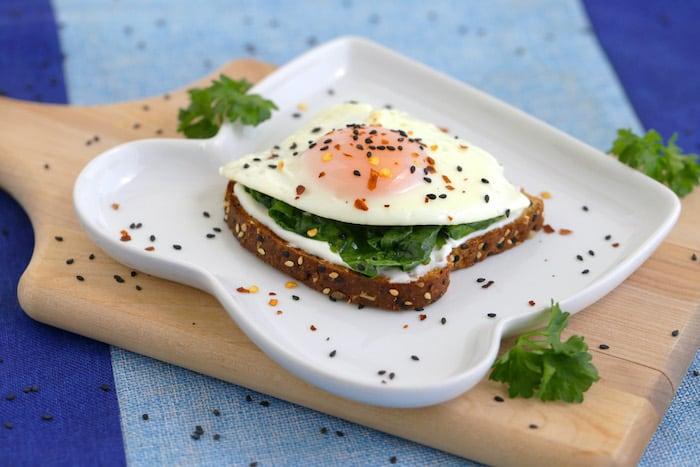 Spinach Egg Toast