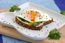 Sauteed Spinach Egg Toast