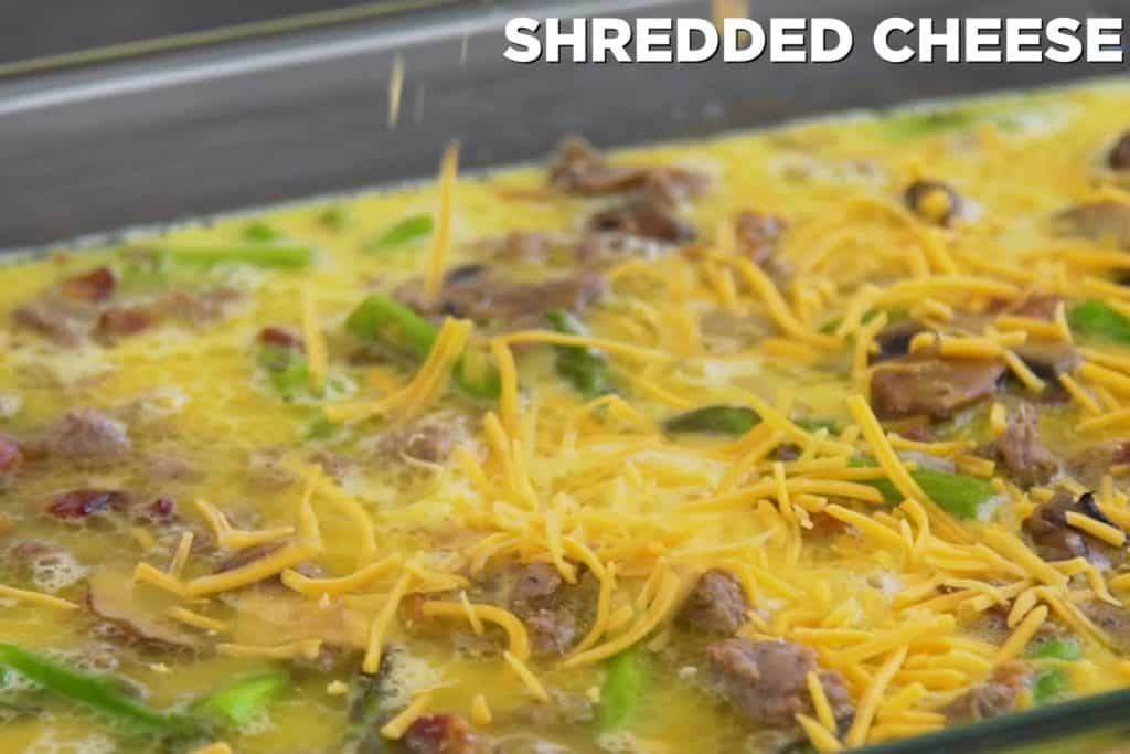 Low Carb Sausage Egg and Cheese Casserole