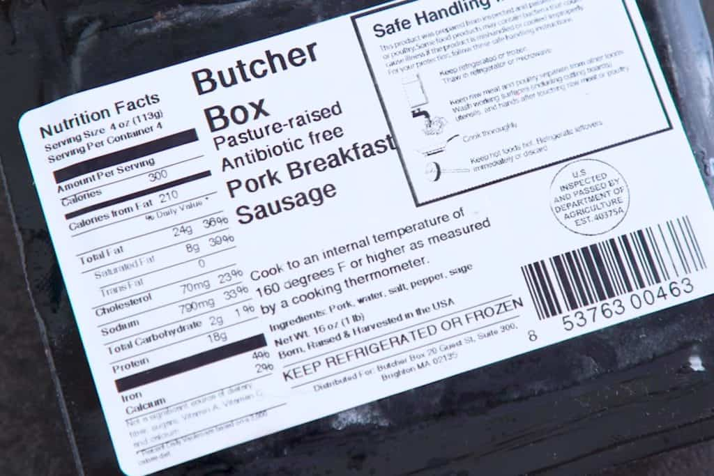 Butcher Box Sausage