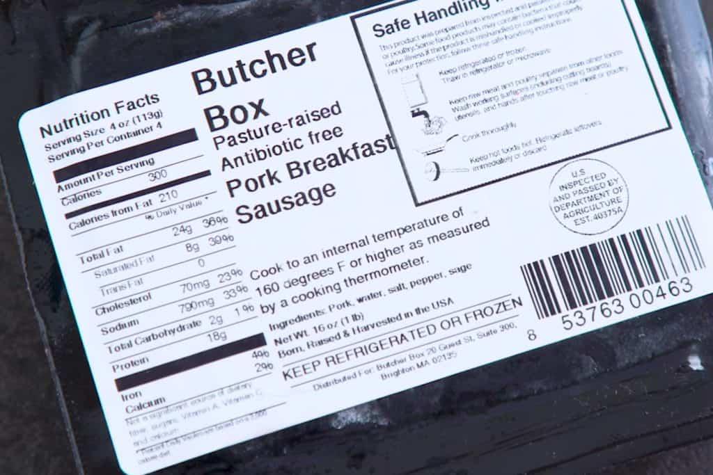 Butcher Box Sausage