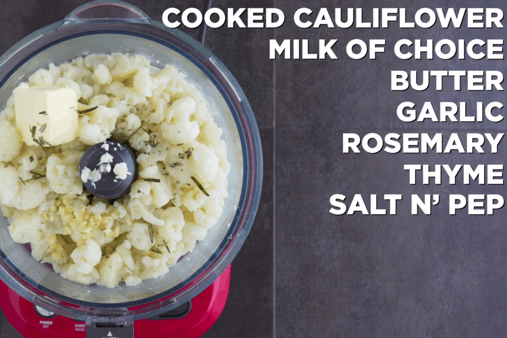 Low Carb Cauliflower Mash