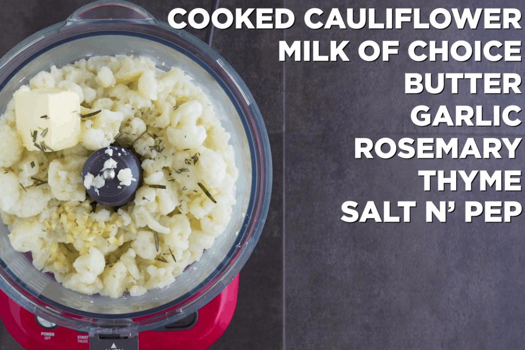 Low Carb Cauliflower Mash