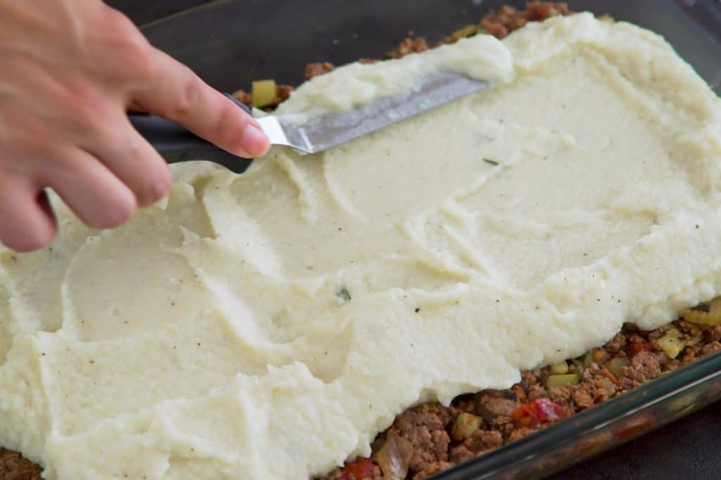 Keto Shepherd's Pie with Cauliflower Mash