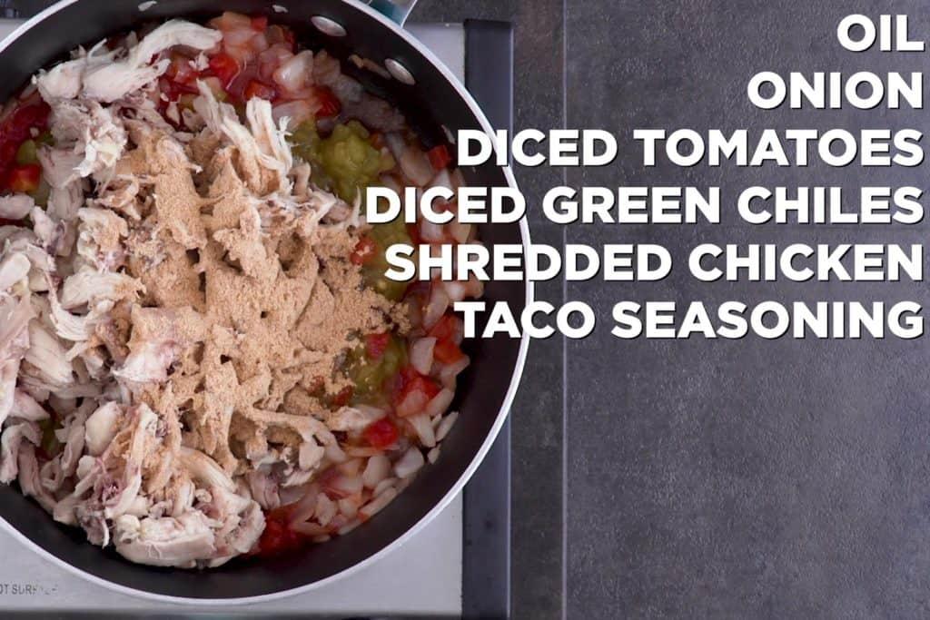 Low Carb Chicken Enchilada Casserole Meat Mixture