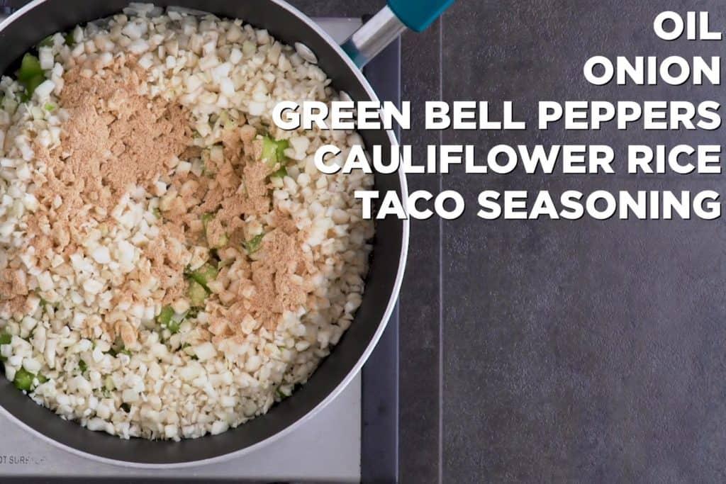Cauliflower Rice and Bell Pepper Mix