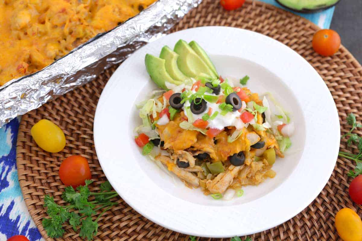 Keto Taco Casserole with Shredded Chicken Thighs