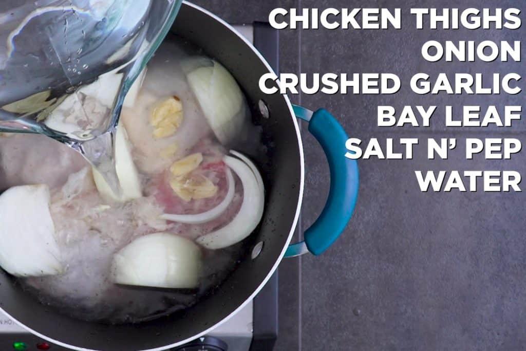 Shredded Chicken Thighs for Keto Chicken Casserole