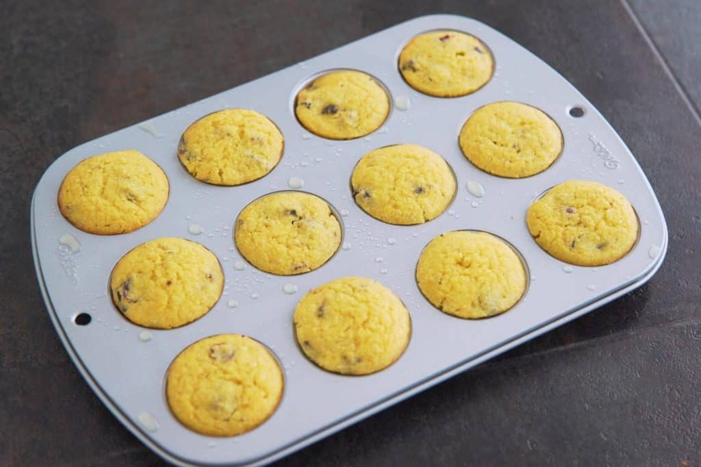 Allow almond flour cornbread muffins to cool before enjoying!