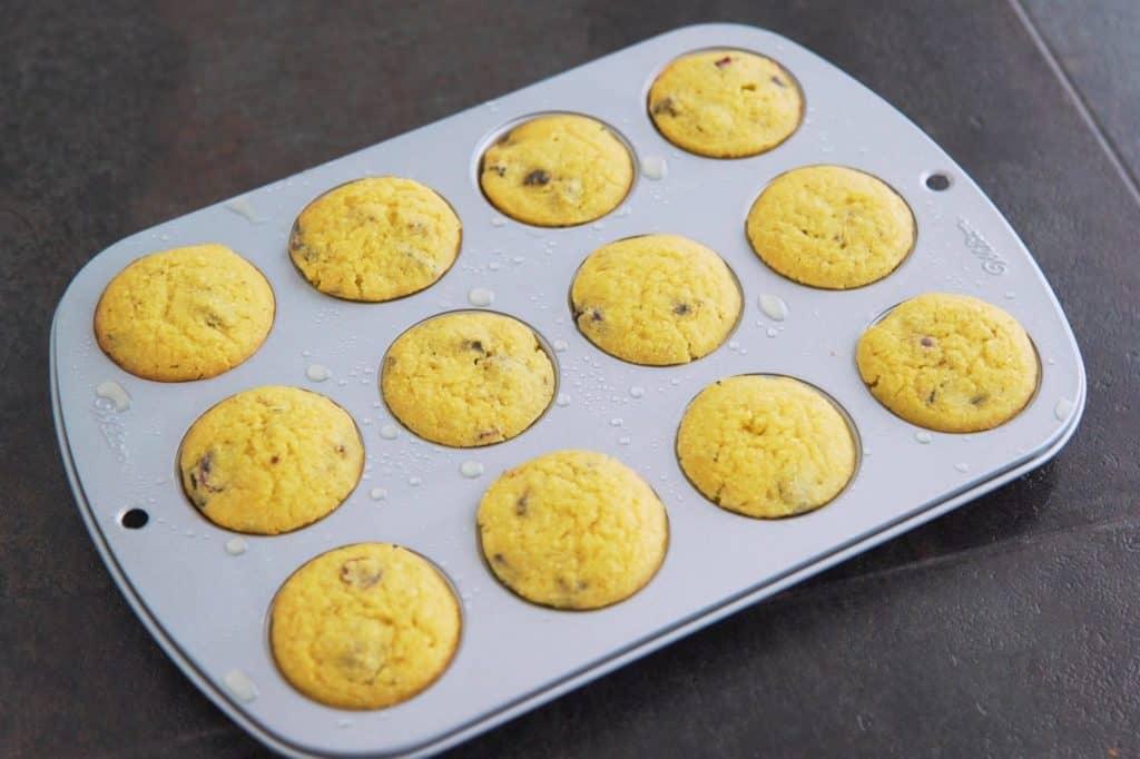 Allow almond flour cornbread muffins to cool before enjoying!