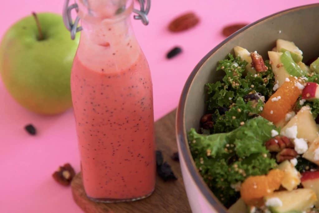 Raspberry Poppyseed Kale Salad Dressing